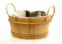 Ведро деревянное SaunaSet 6л с вст. из нерж., ручки из бечевы