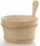 Шайка деревянная SaunaSet 4л с пластиковой вставкой для бани