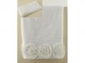 Полотенце Santalino Розы, белый