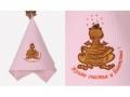 Полотенце Noname Дракон Желаю счастья и богатства!, розовое