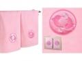 Набор подарочный для бани Santalino Комплект Рыбы, розовый