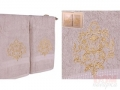 Набор подарочный для бани Santalino Комплект Золотой вензель, светло-серый