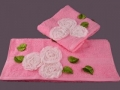 Набор подарочный для бани Santalino Комплект Мерлин розовый