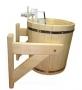 Русский душ на 20 л., липа, обливное устройство c пластиковой вставкой и наливным клапаном в коробке (33201)