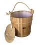 Ведро 20 литров с пластиковой вставкой, с крышкой, сосна Банные штучки (36012)