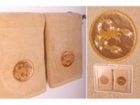 Набор подарочный для бани Santalino Комплект Скорпион, золото