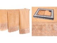 Набор подарочный для бани Santalino Комплект Ажур, золотой