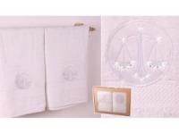 Набор подарочный для бани Santalino Комплект Весы, белый