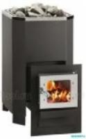 Электрическая печь Печь дровяная Helo 12 K L SL со стеклянной дверцей, черная