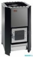 Электрическая печь Печь дровяная Helo 16 K L со стеклянной дверцей, черная