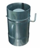 Дымоход Шибер поворотный 110мм (нержавейка 0,5мм)