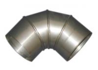 Дымоход Колено труба 90гр 150мм (нержавейка 1мм)