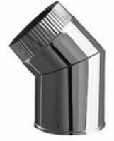 Дымоход Колено труба 135гр 130мм (нержавейка 1мм)