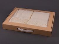Набор подарочный для бани Santalino Комплект Пион, кремовый