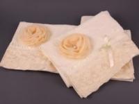 Набор подарочный для бани Santalino Комплект Розалина кремовый