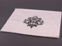 Полотенце Santalino Вензель, черная нить , белое