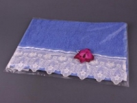 Полотенце Santalino Орхидея, голубое