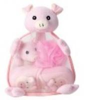 Мочалка 2Пр.+Тапочки Набор Детский Arya В Рюкзаке Pink Puff