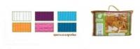 Накидка вафельная для женщин, цветная, однотонная, Банные штучки (32058), цвет: Голубой