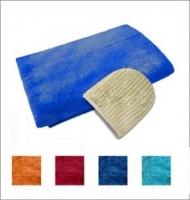 Комплект махровый для мужчин, Банные штучки (03681), цвет: Синий