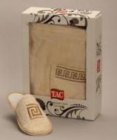 Мужской набор для сауны TAC,махровый,бежевый