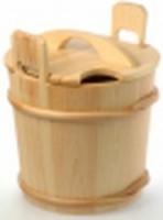 Запарник деревянный с крышкой SaunaSet 15л для сауны и бани