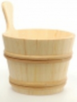 Шайка деревянная SaunaSet 7л для бани и сауны (банная, баня)