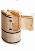 Купель Кедровая бочка «Овальная со скосом сибирская» покрыта воском