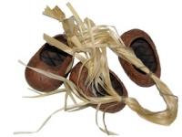 Вязанка Noname ЛАПТИ большие, 3 предмета, ручная работа