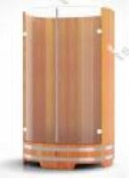 Купель Душевая кабина из лиственницы со стеклянными дверцами BENTWOOD