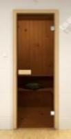 Дверь для сауны Дверь стеклянная Aldo бронза прозрачная