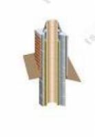 Дымоход Верхний комплект дымохода Schiedel Uni FINAL 1мп диаметр 140мм, одноходовой (Имитация кирпичной кладки)