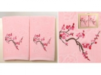 Набор подарочный для бани Santalino Комплект Сакуми , розовый.