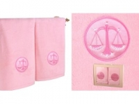Набор подарочный для бани Santalino Комплект Весы, розовый