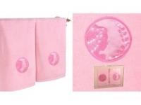 Набор подарочный для бани Santalino Комплект Дева, розовый
