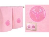Набор подарочный для бани Santalino Комплект Телец, розовый