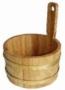 Шайка из дуба 3л для бани и сауны обручи из латуни