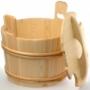 Запарник деревянный с крышкой SaunaSet 30л для сауны и бани