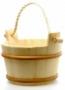 Шайка деревянная SaunaSet 4л с пласт. встав. и ручками из бечевы