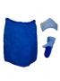 Набор подарочный для бани Noname В-15 Комплект мужской, 3 предмета, с вышивкой