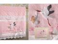 Полотенце Santalino С рождением дочки, жаккард-велюр, розовое