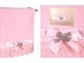 Полотенце Santalino Брошь бант, розовое