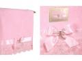 Полотенце Santalino Брошь стрекоза, розовое