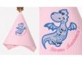 Полотенце Noname Дракон Мечты сбываются, розовое