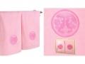 Набор подарочный для бани Santalino Комплект Близнецы, розовый