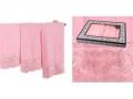 Набор подарочный для бани Santalino Комплект Ажур, розовый