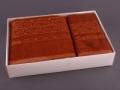 Набор подарочный для бани Fashion &  dizayn Комплект махровых полотенец, коричневый