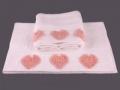 Набор подарочный для бани Santalino Комплект Сердца, 2 шт., белый