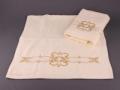 Набор подарочный для бани Santalino Комплект Золотой орнамент, шампань