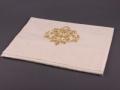 Полотенце Santalino Вензель, золотая нить, кремовое